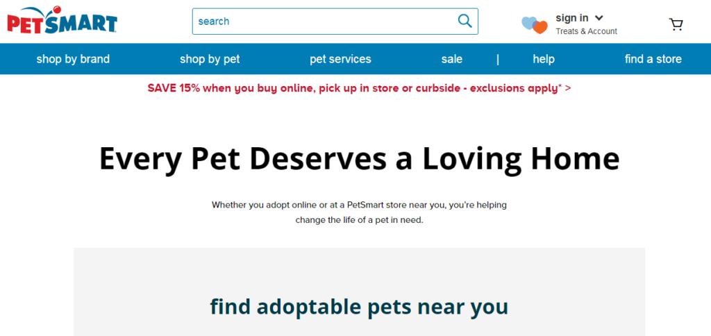 petsmart pet adoption